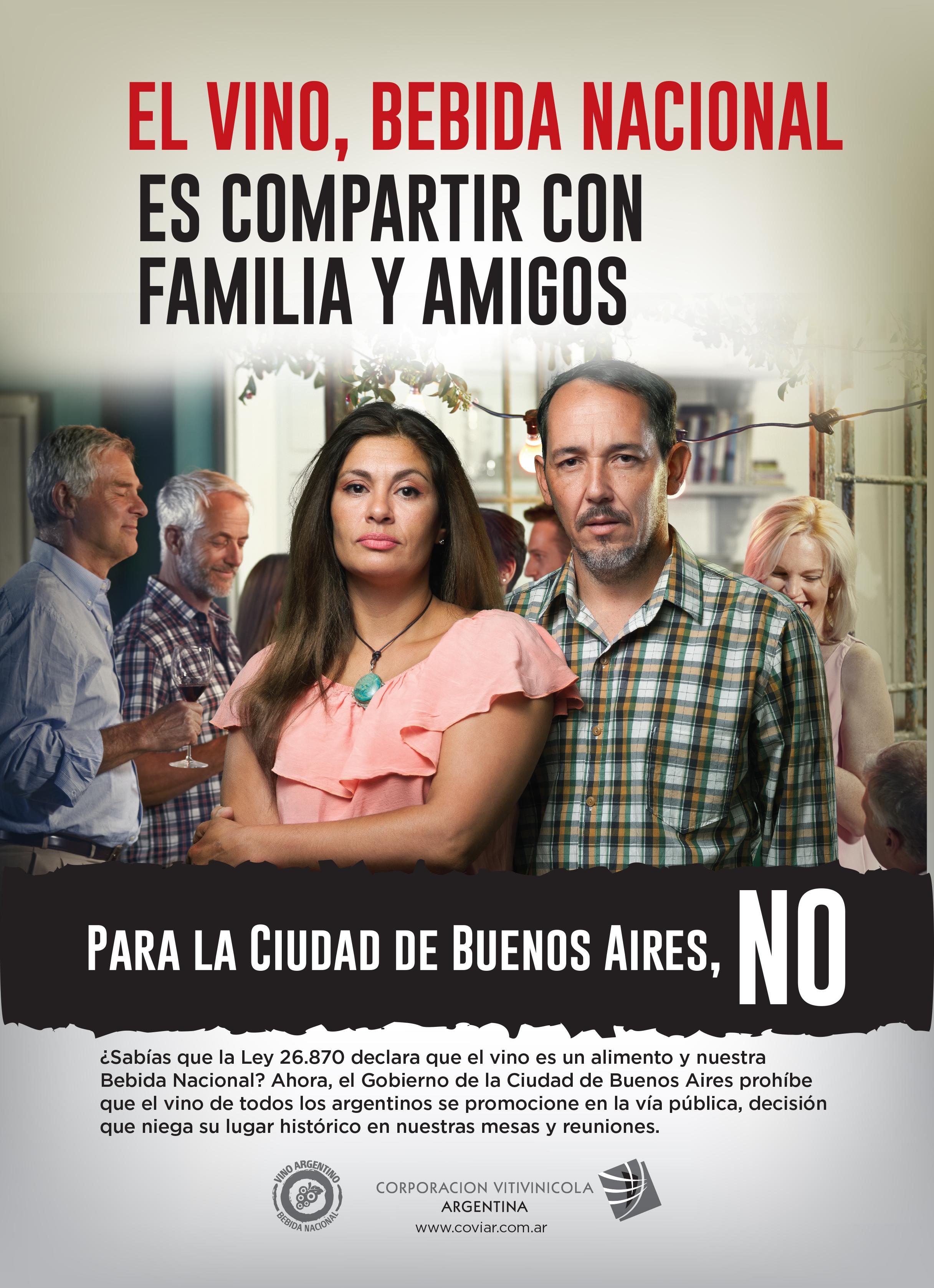 El vino es nuestra Bebida Nacional, para la Ciudad de Buenos Aires, no. Info para comprender el conflicto.