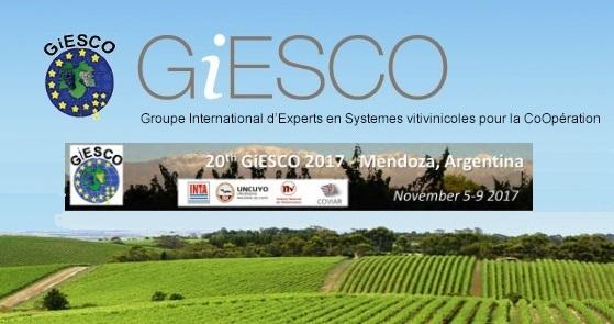 Mendoza: Encuentro internacional vitivinícola XX GiESCO 2017.
