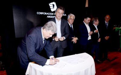 Festejos y firma de convenio por el Vino Argentino Bebida Nacional