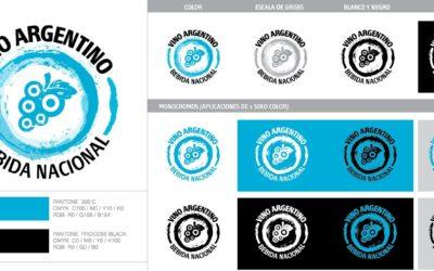 Difusión del Vino Argentino Bebida Nacional: uso del logo